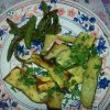 Courgettes and sugar peas
